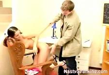 kinky amateur couple spanking ass