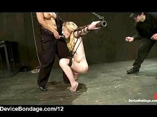 strapped suspended blonde flogged