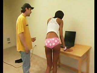Kiki ebony gag spanking - scene 1