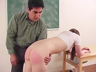 Cute school girl likes to be spanked