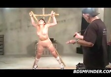 Tied Asian Whipped And Toyed