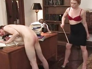 Whore Madison Young spanks this dudes tiny round ass