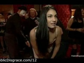 Two babes gets their asses spanked at party