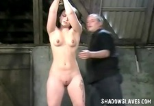 teen slave pixies bondage and whipping to tears in the old barn