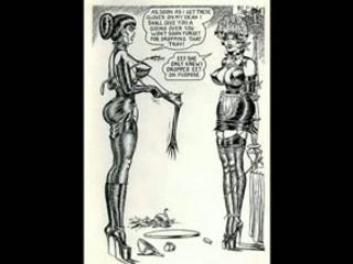 Vintage lesbian whipping bondage comic