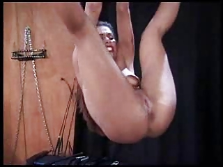 Blonde watches sub tied &; spanked