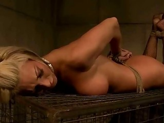 Mistress punishing sexy mature blonde