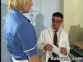 spanking chick in vigorous fetish makeout