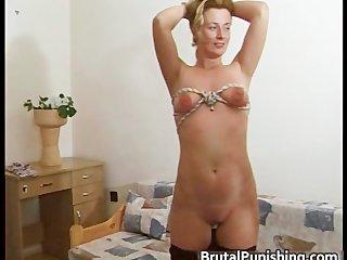 Hard-core fetish and brutal punishement part6