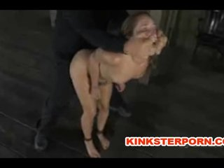 Bounded Slave is Caned and Pussy Tortured