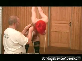 boobies breasts red wig intense bdsm part1
