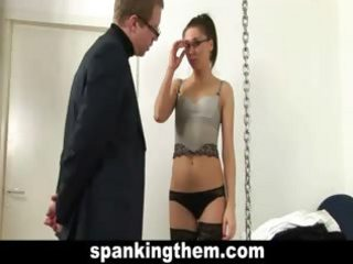 Young teacher spanked by principal