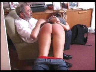 Clean horns-to-sell with a wrong blurt gets some spanking from an old geezer