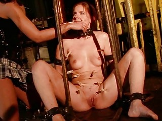 Young mistress punishing sex slave pretty hard