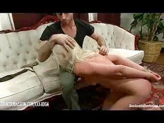 bondage girl gets spanking and humiliation