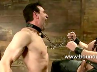 jason endures the zipper across his chest