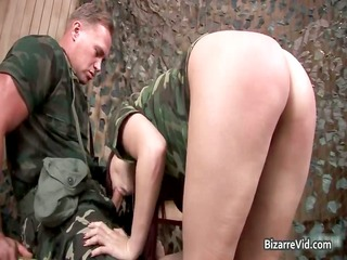 two hot sexy horny army slut gets part3