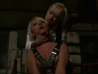 Mitress punishing hot blonde pretty hard