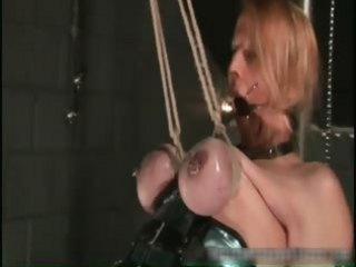 Nastu blonde babe is bound and spanked part1