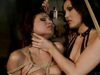 Hot mistress punishing sexy slavegirl