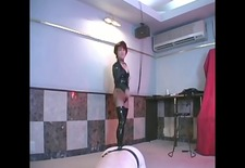 slave getting whipped and pegged