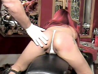 babe gets a little spanking - dungeon vip