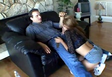big booty brat gets the spanking she deserves - chain reaction
