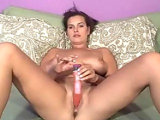 Solo Girlfriend Whips Out Her Vibrator For Some Masturbation Fun