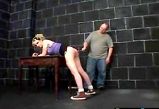 Cute Girl Getting Spanked