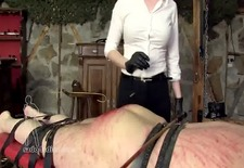 Sadistic Mistress bloody caning