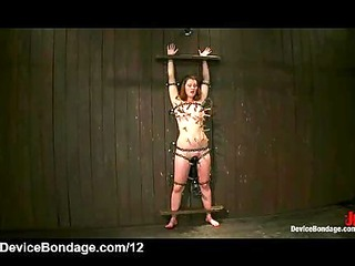 bound clothes pinned babe flogged