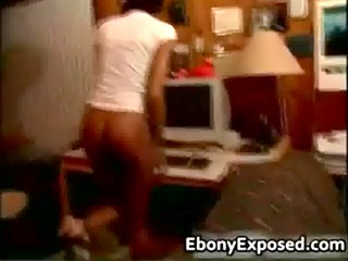 ebony school bitch getting spanked