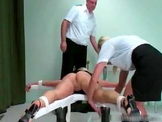 naked babe gets booty spanked