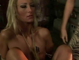 Mistress Mandy Bright punishing hot blonde