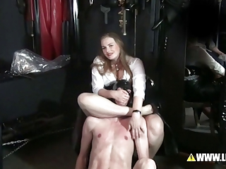 Punishment of unruly pupils - breath reduction &; Spank