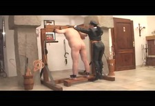 Ruthless slave punishment in the stockade