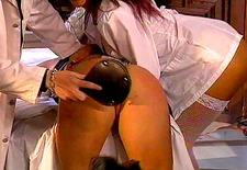 blond slave spanking nurse training