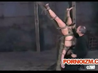 Fetish bondage slave caned and whipped