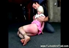 submissive gets flogged by her dom