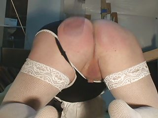 Crossdresser Spanked