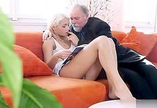 Hot daughter sucking big cock