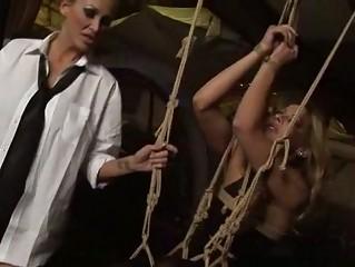 Horrid mistress punishing sexy beauty