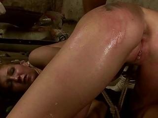 Young mistress punishing slavegirl very hard