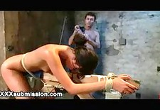 tied up redhead flogged and vibed and squirts