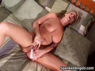 After getting ass spanked horny blond part3