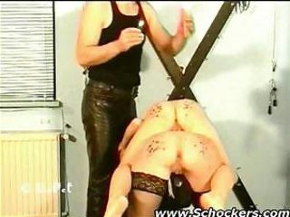 Two girls getting ass punished by their master