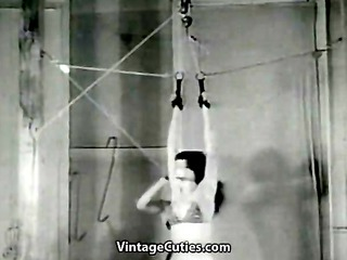 teen girls playing with bondage