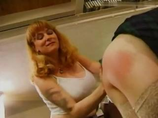 An nasty English sex party turns into a spanking great time