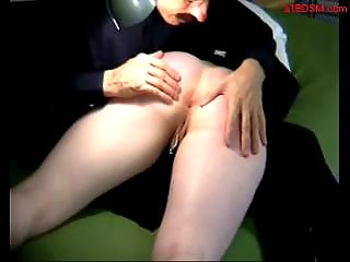 Girl Getting Her Ass Spanked To Red On The Couch