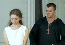 Exorcism for russian girl - suspension and roping